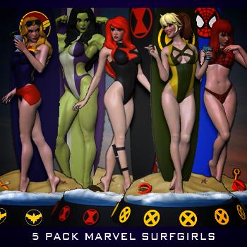 Marvel surfgirls – 5 Pack