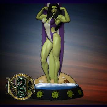 Marvel surfgirls - She Hulk