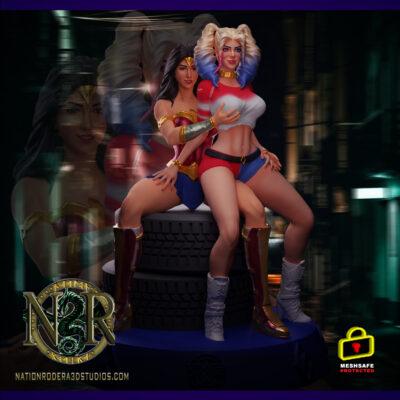 Wonder-Woman & Harley-Quinn